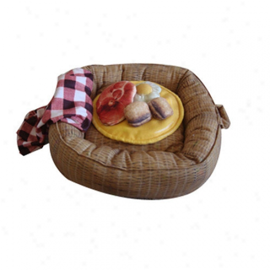 Dkhzzzz Picnic Basket Dog Bed And Toys Set