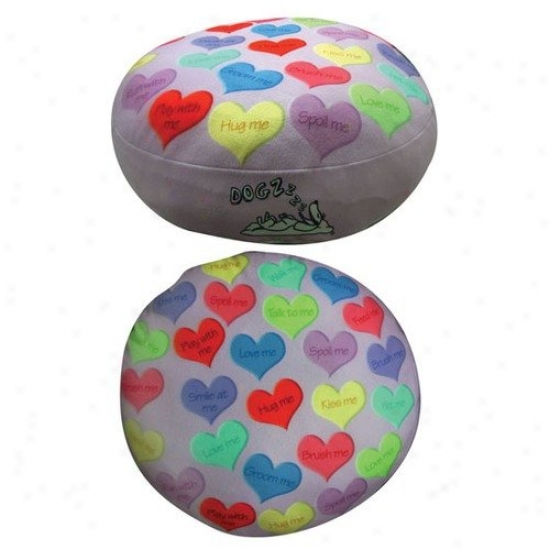 Dogzzzz Round Hearts Dog Bed