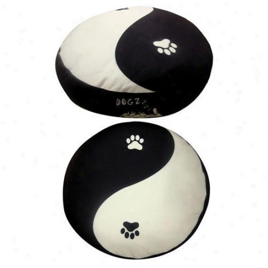 Dogzzzz Round Yin Yang Dog Bed