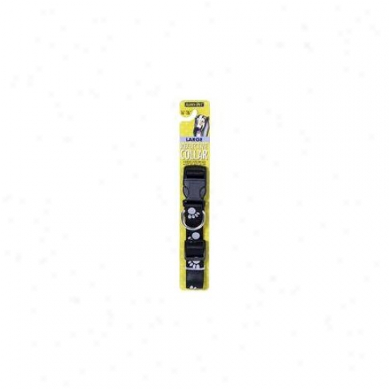 Doskocil 0327880 Black 1 Inch X 16 Inch Reflective Dog Collar