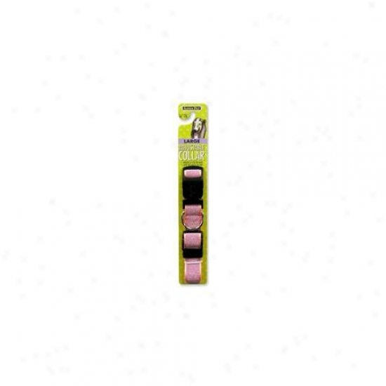 Doskocil - Aspen Pet 1i6nch To 26inch X 1inch Pink Adjustable Dog Collar  27977