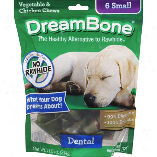 Dreambkne Vegetable & Chicken Dental Small Dog Chews, 6ct