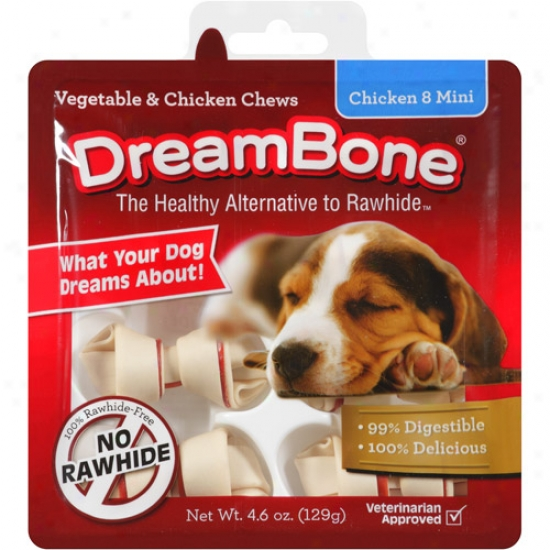 Dreambkne Vegetable & Chicken Mini Dog Chews, 8ct