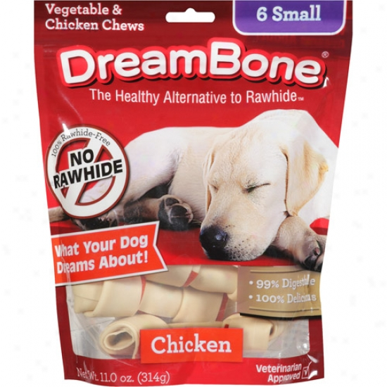 Dreambone Vegetable & Chicken Small Dog Chews, 6ct