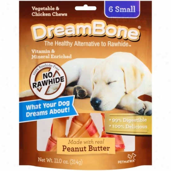 Dreambone Vegetable And Chicken Peanut Butter Small Dog Chews, 6-count, 11 Oz