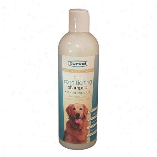 Durvet Naturals C0nditioning Dog Shampoo In Blue - 17 Oz.