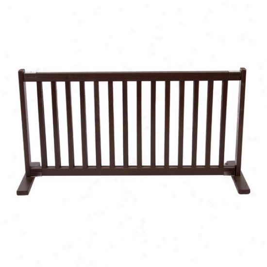 Dynamic Accents 20'' Whole Wood Large Free Standing Pet Gate In Artisqn Bronze
