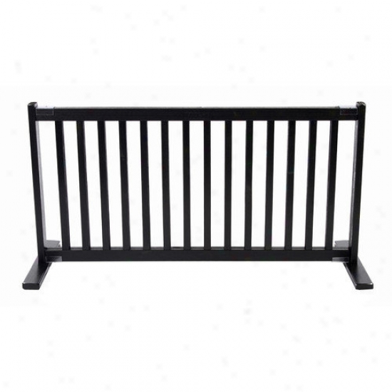 Dynamic Accen5s 20'' All Wood Large Free Standing Pet Gate In Black