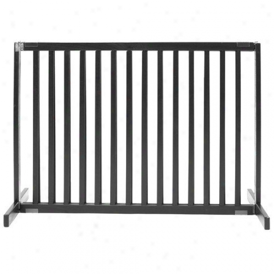 Dynamic Accents 30'' Large Kensington Pet Gate In Black