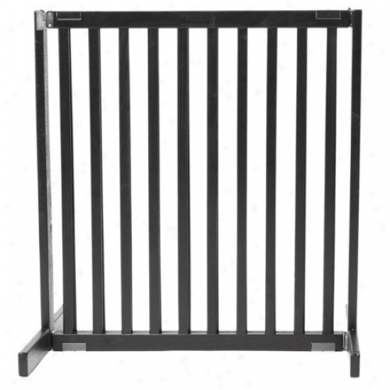 Dynamic Accents 30'' Small Kensington Pet Gate In Black
