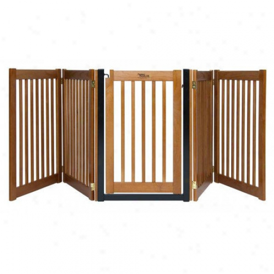 Dynamic Accents 32'' Walk Through 5 Free Standing Pet Gate In Mahogany