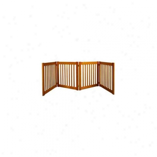 Dynamic Accents 42621 27 Inch 4 Panel Free Standing Ez Gate - Artisan Bronze