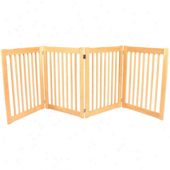 Dunamic Accents Legacy Outdoor Pet Gate In Solid White Oak