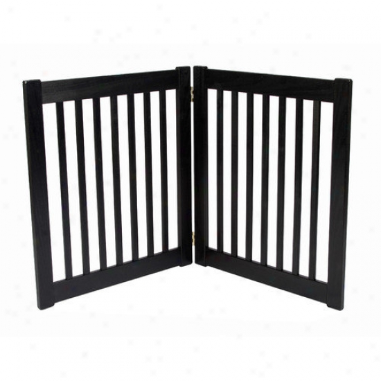 Dynamic Accents Two 27'' Panel Free Standing Ez Fondle Gate In Black