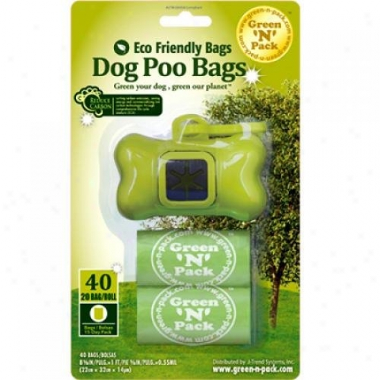 Eco-friendly Bags Dog Poo Bags And Dispenser 40 Burden
