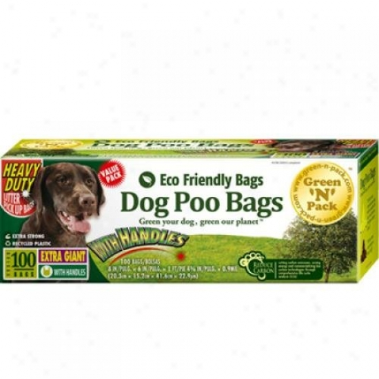 Eco-friendly Bags Dog Poo Bags Xtra Giant Ties 100 Paack