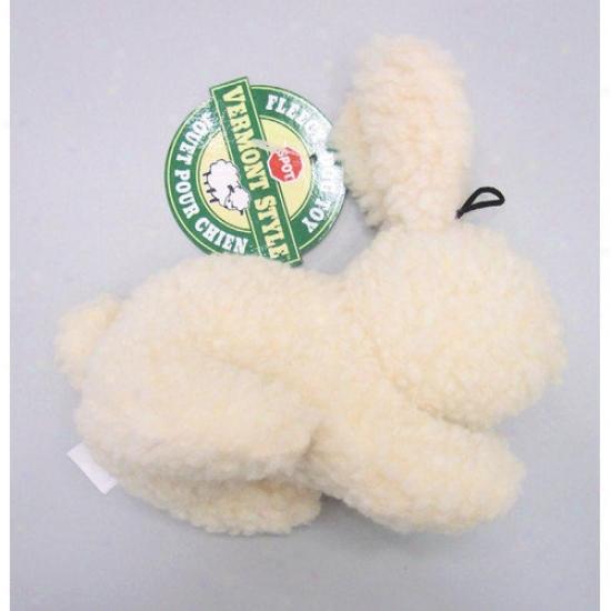 Ethical Pet Vermont Dob Fleece Rabbit Dog Toy