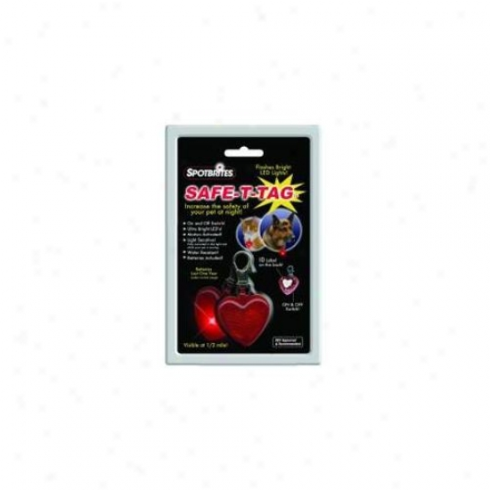 Ethical Products Safe T Tag Heart Shape Led Id - 40009