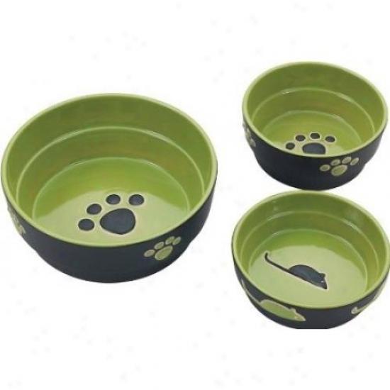 Ethical Stoneware 6900 Fresco Dog Dish