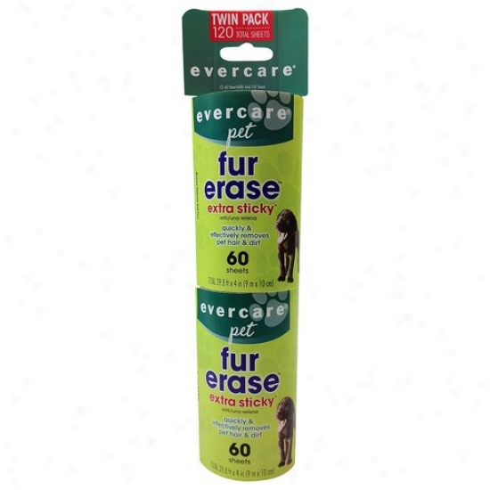 Evercare Pet Fur Erase Exta Sticky Lint Roller Refill, 60 Sheets, (pack Of, 2)