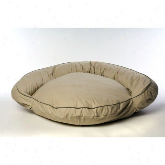 Everest Pet Classic Twill Bolster Dog Bed In Khaki