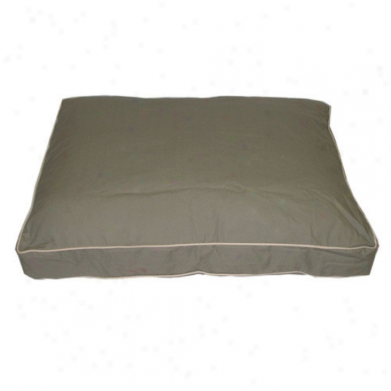 Ever3st ePt Classic Twill Rectangular Pet Bed In Sage By the side of Khaki Cording