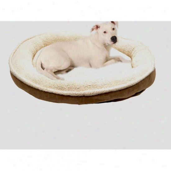 Everest Pet Darkness Sherpa And Faux Suede Comfy Draught Pet Bed