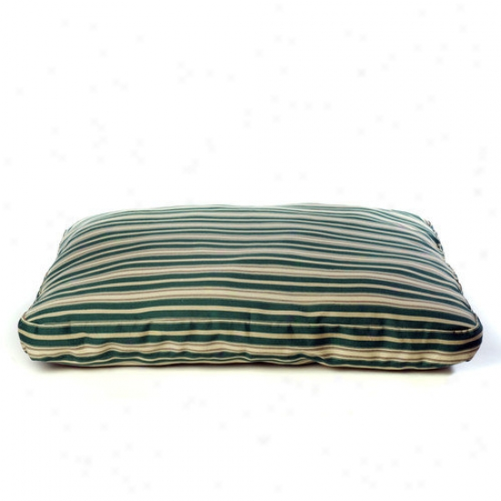 Everest Pet Indoor/outdoor Stripec Dog Bed In Verdant