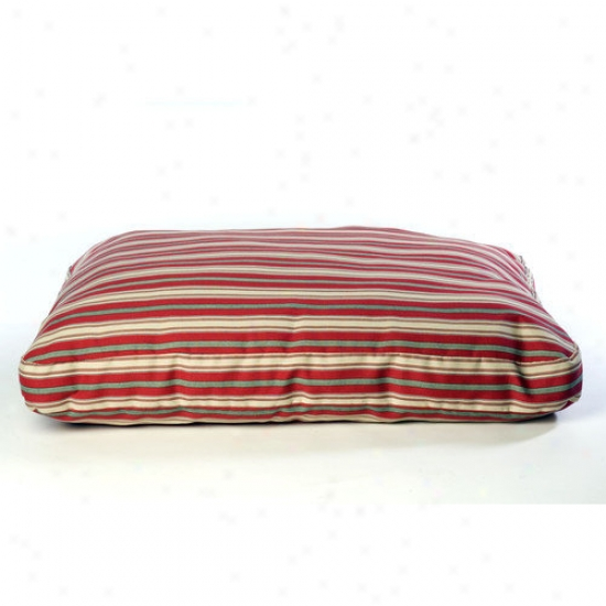 Everest Pet Indoor/outdoor Striped Dog Bed In Red
