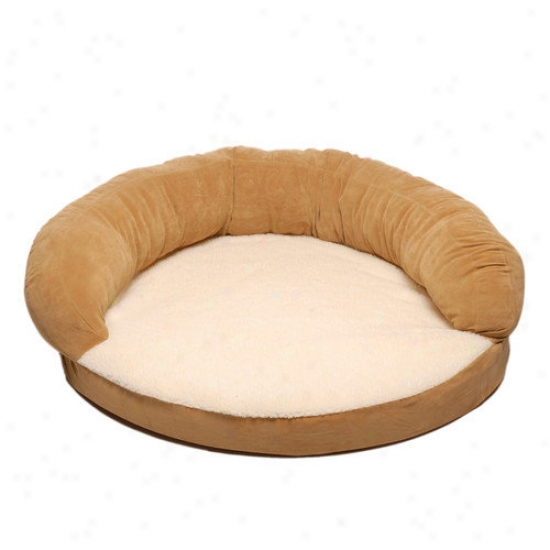 Everest Pet Ortho Sleeper Bolster Bed In Caramel