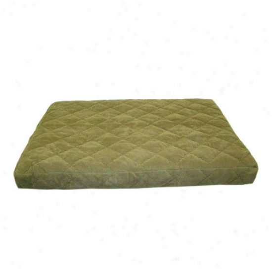 Everest Pet Quilted Orrhopedic Dog Bed With Protector  Pad In Sage