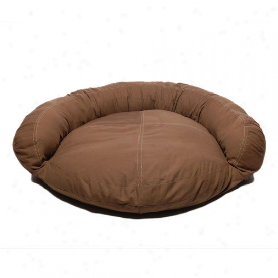 Everest Pet Saddle Sew Twill Bolstsr Dog Bed In Chocolate