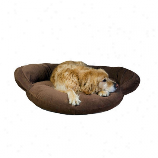 Everest Pet Veelvet Microfiber Bolster Dog Bed In Brown