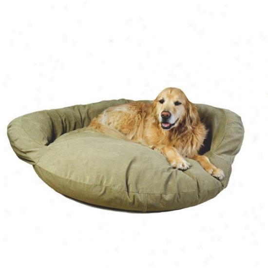 Everest Pet Velvet Microfiber Bolster Dog Bed In Sage