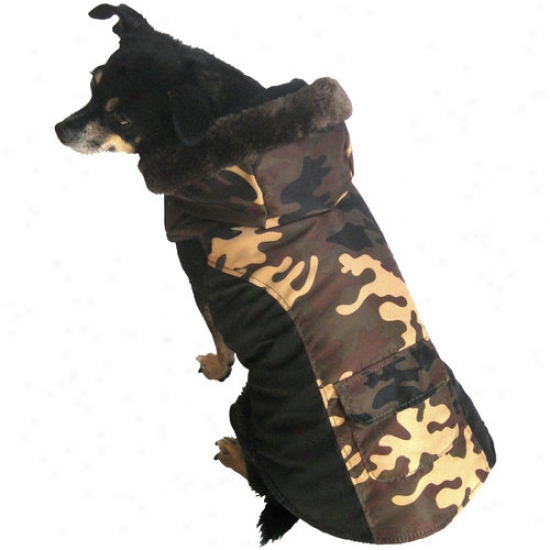 Fall/winter Dog Coat, Green Camo, (multiple Sizes Available)