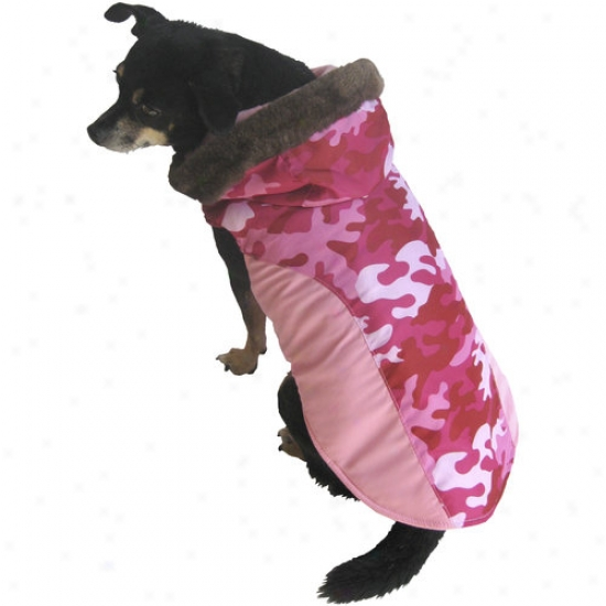 Fall/winter Dog Coat, Pink Camo, (multiple Sizes Available)
