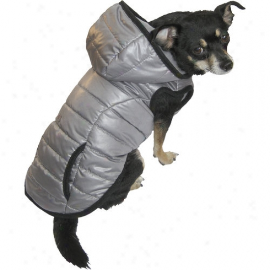 Fall/winter Padded Dog Coat, Gray, (multiple Sizes Available)