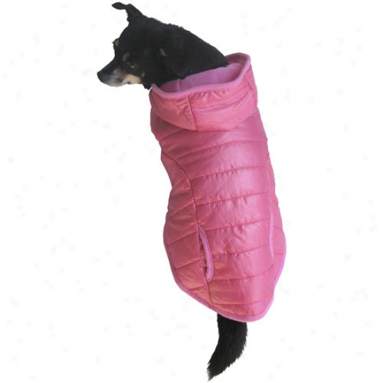 Fall/winter Padded Dog Coat, Pink, (multiple Sizes Available)