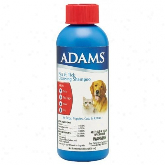 Farnam 100504628 Adams Flea And Tick Clesnsing Shampoo