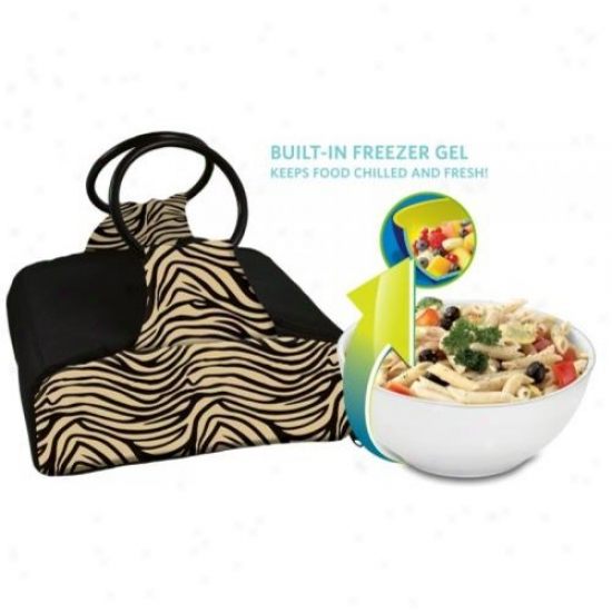 Fit And Fresh 435wff62 Carrier Sack With Bowl Zebra Print 10 Cup