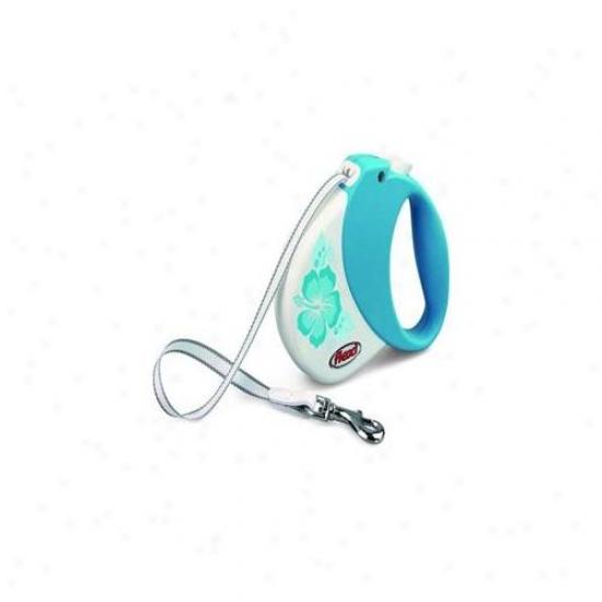 Flexi Usa Fl-01952 Hawaii Comfort Belt 1 Turquoise- Med 33 Lbs. - 16 Ft.