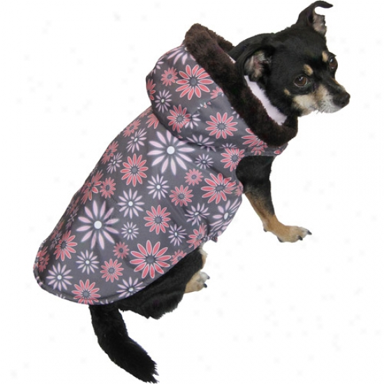 Floral Print Dog Coat (multiple Sizes Available)