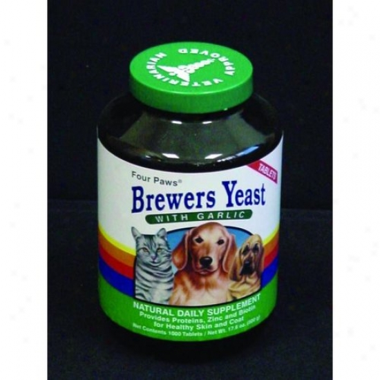 Four Paws 100203478/31500 Brewers Yeast With Garic