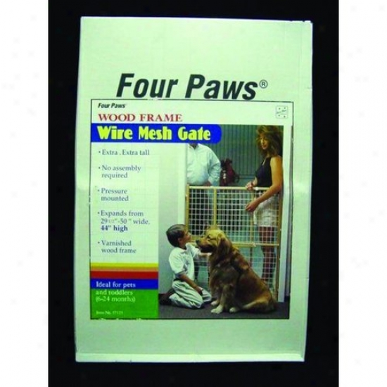Four Paws 100203585/57125 Ex Tall Wood Gte Coated Wire
