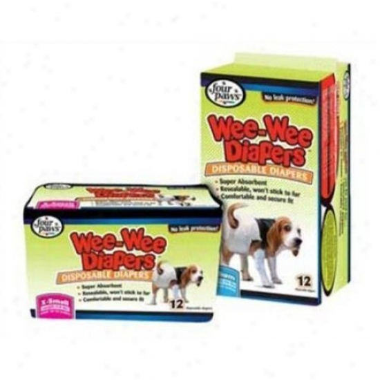 Four Paws 100512251/18815 Wee Wee Diapers