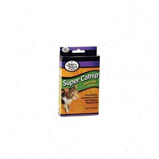Four Paws Products Super Catnip Leaves . 5 Ounces - 16640
