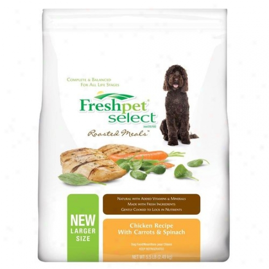 Freshpet Select Roasted Meals Chicken With Carrots And Spinach Recipe Dog Food, 5.5 Lbs