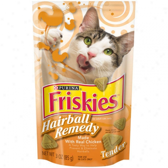 Friskies Tender Hairball Remedy Pouch With Chicken Cat Treats (3-oz)