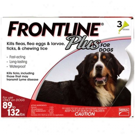 Frontline Plus Flea And Tick Control For Extra Large Dogs 89 To 132 Lbs., 3ct