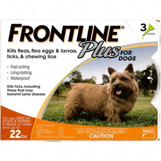 Frontline Plus Flea And Tick Hinder For Small Dogs 8 Weeks Or Older And Up To 22 Lbs., 3ct